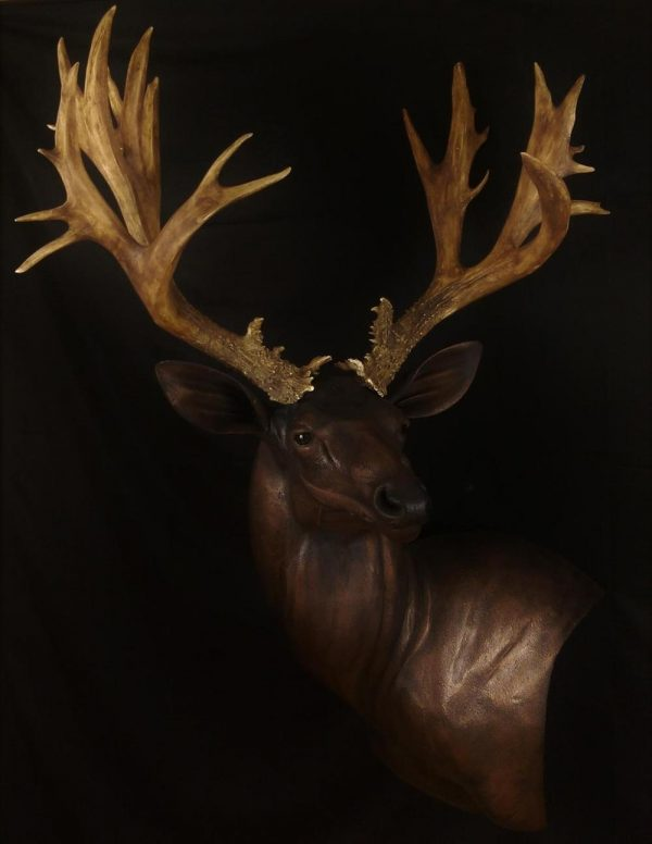Bronze Mule deer Mount - The Antler Shack copper,bronze, brass, and silver metalized creations limited addition bronze