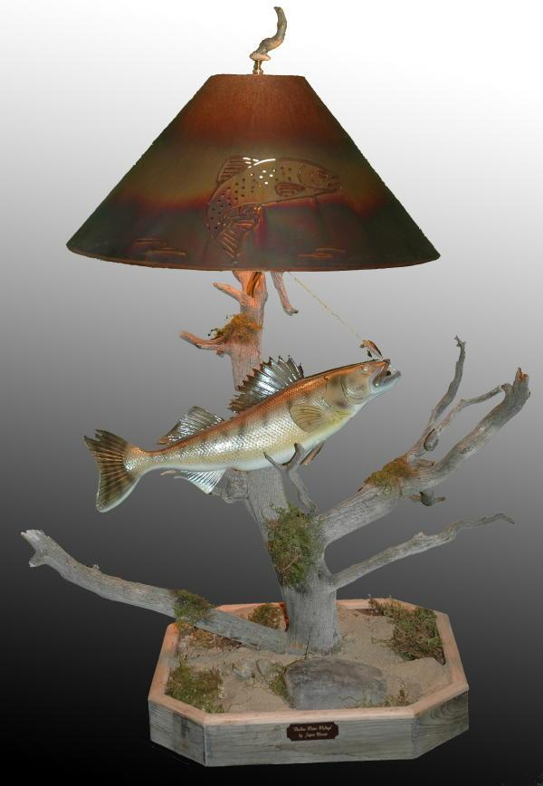Decorative Walleye Fish Lamp - The Antler Shack Fish Lamps Fish Themed Lighting