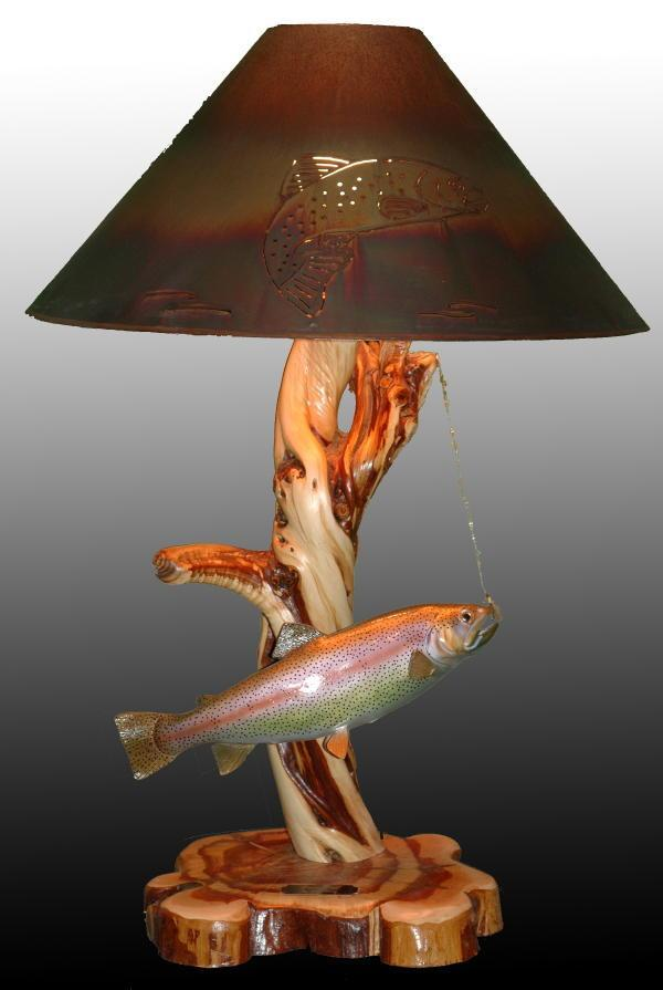 Dinner Time - Sold - Taking Orders - The Antler Shack Fish Lamps Fish Themed Lighting