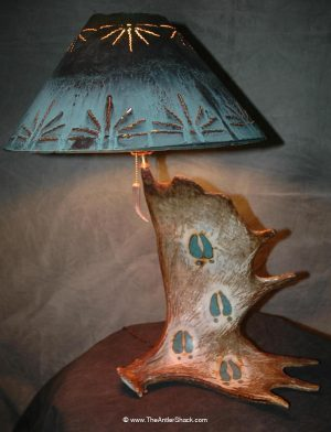 Moose Tracks - SOLD Taking Orders - The Antler Shack Antler Lamp Clear Castings