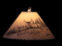 Mule Deer Scene Lamp Shade - The Antler Shack Wildlife lamp Shades, elk, moose,deer Rustic handmade shades