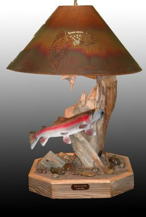 One For The Pan - The Antler Shack Fish Lamps Fish Themed Lighting