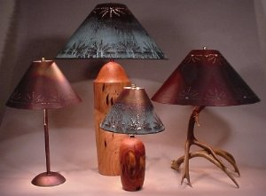 Round Lamp Shades - Sizes and Prices - The Antler Shack Copper Lamp Shades