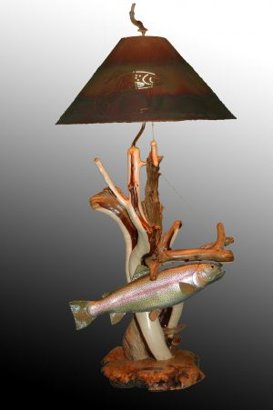 Stubborn - Sold - Taking Orders - The Antler Shack Fish Lamps Fish Themed Lighting