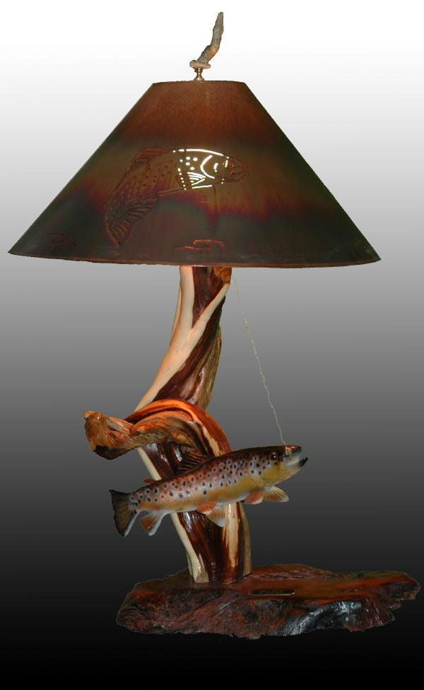 Wet`n The Fly - Sold - Taking Orders - The Antler Shack Fish Lamps Fish Themed Lighting
